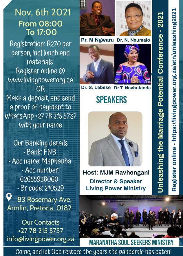 Unleashing the Marriage Potential Conference 2021 (Just Reg)